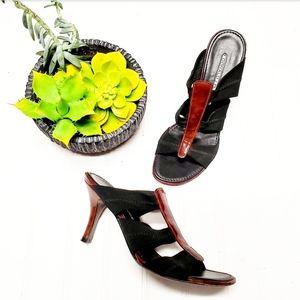 🎉Donald J Pliner Black Mahogany Heeled Sandal🎉